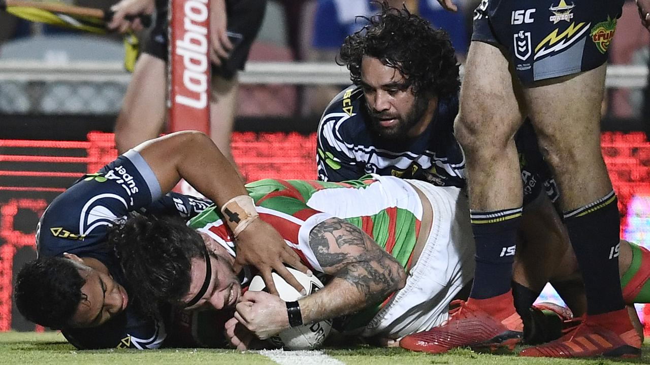 The Cowboys missed a huge opportunity against the high flying Rabbitohs. Picture: Ian Hitchcock
