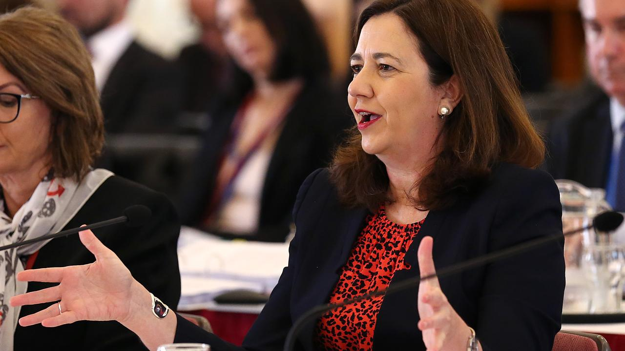 Queensland Premier Annastacia Palaszczuk says most new public servants are in frontline roles. Picture: AAP Image/Jono Searle