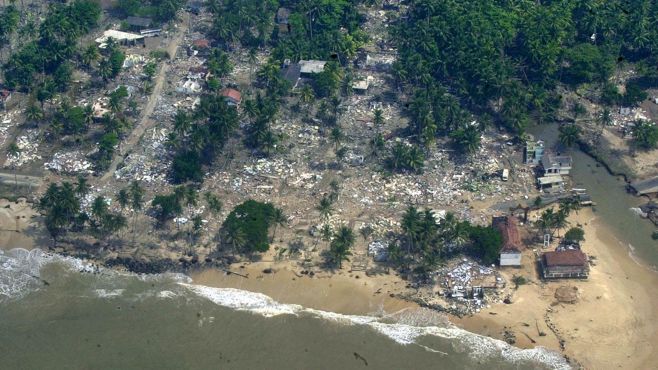 The tsunami devastated Sri Lanka's coastal regions.