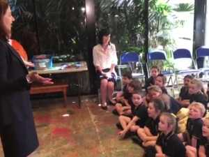 Qld Premier meets St Josephs Wandal preppies