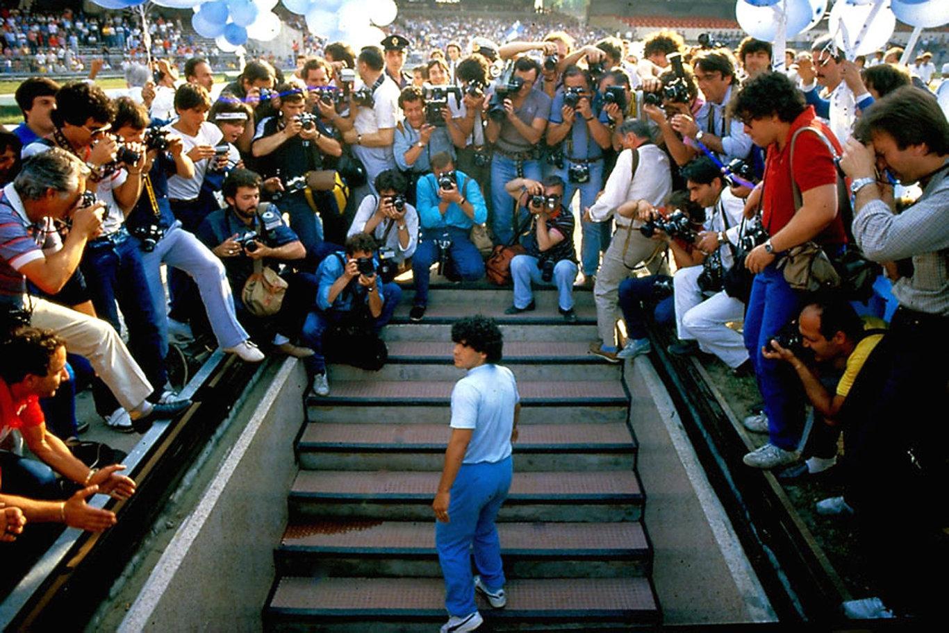 Diego Maradona in a scene from the documentary Diego Maradona.