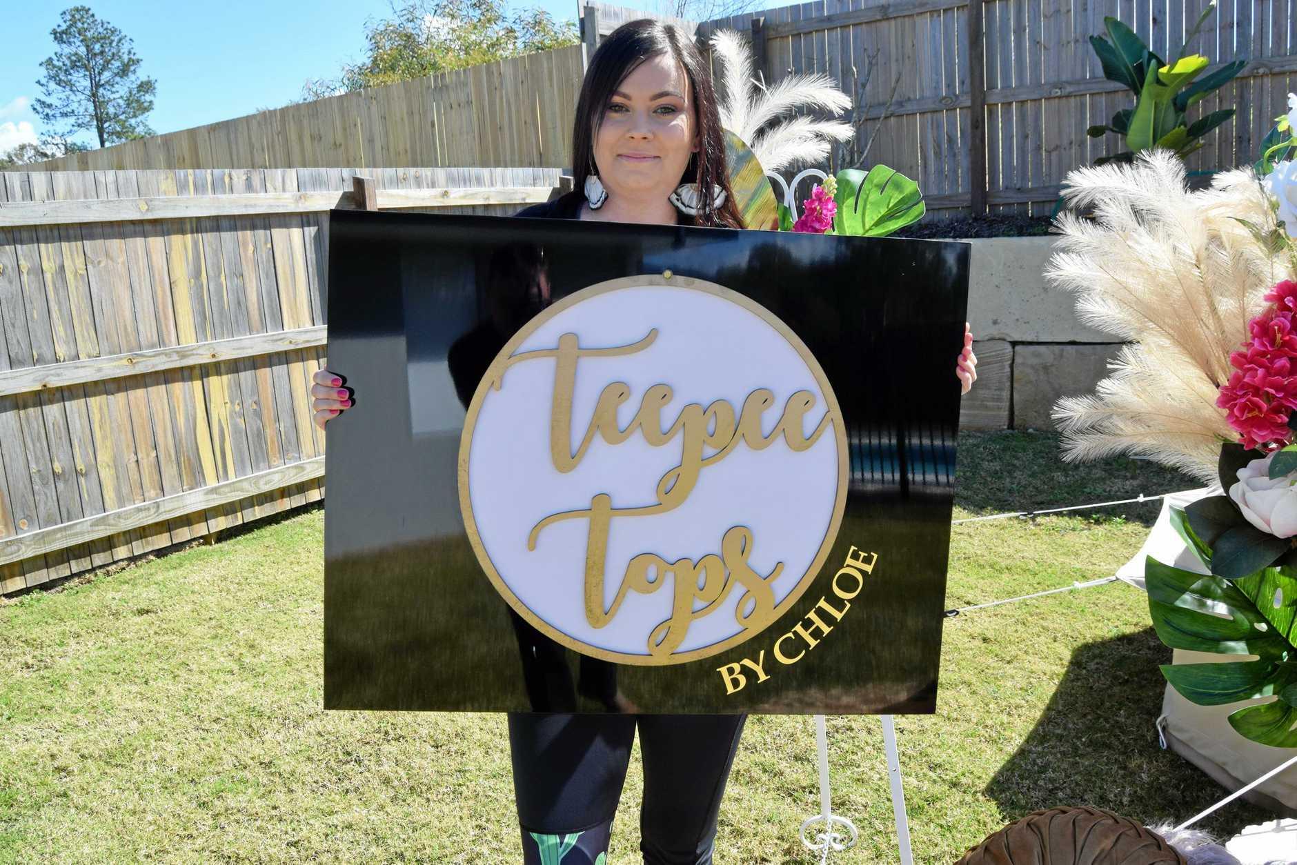 Chloe Moloney of Teepee Tops.