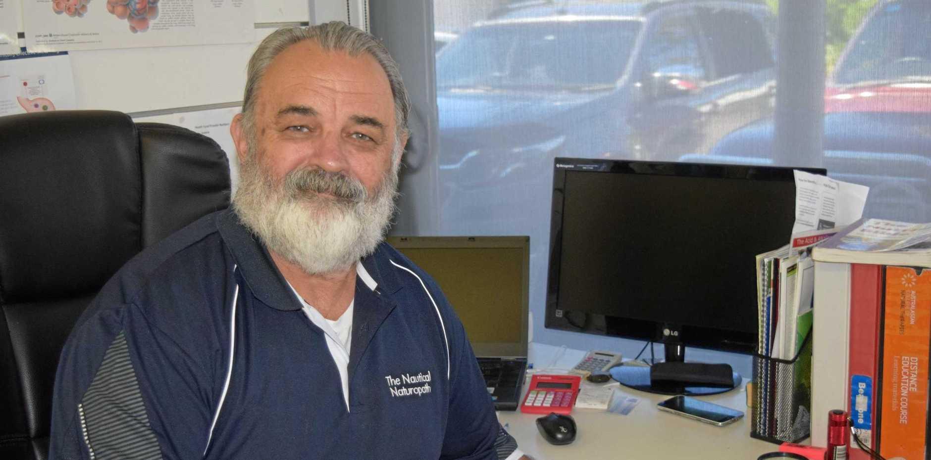 SUPPORT: The Nautical Naturopath David Kemp encourages men to take their health seriously.