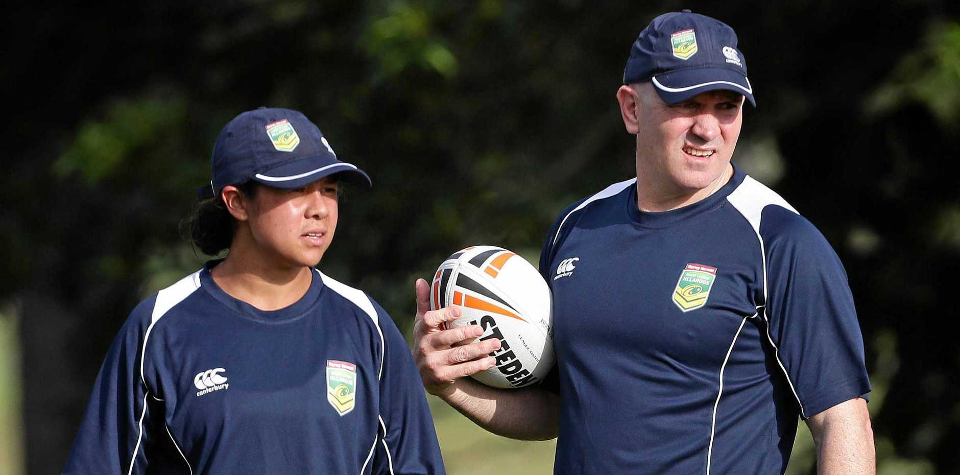 OLD BOY: Adrian Vowles,  assistant coach of the Jillaroos, looks on during a training session at Royal Pines resort on the Gold Coast. He will be in Tweed for Old Boys' Day on Sunday.
