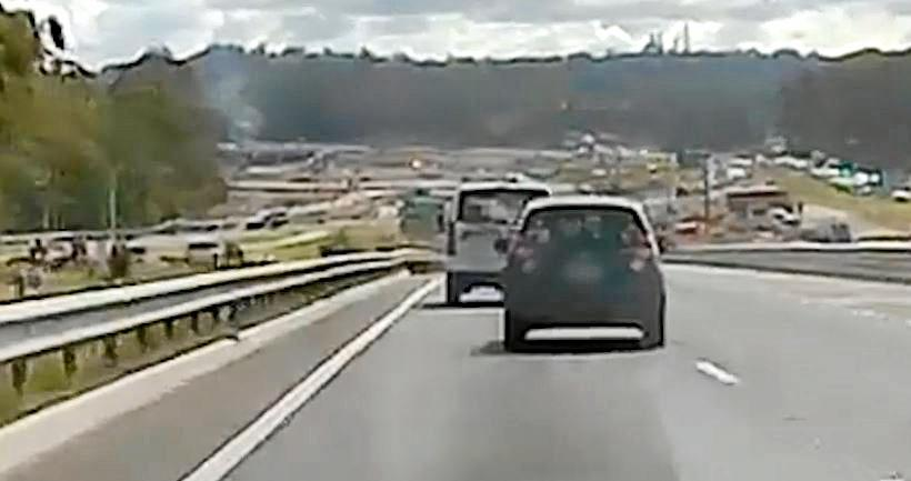 A 37-year-old Gympie woman was intercepted by police after her car was seen moving in and out of the lane throughout road works along the Bruce Highway on Monday.