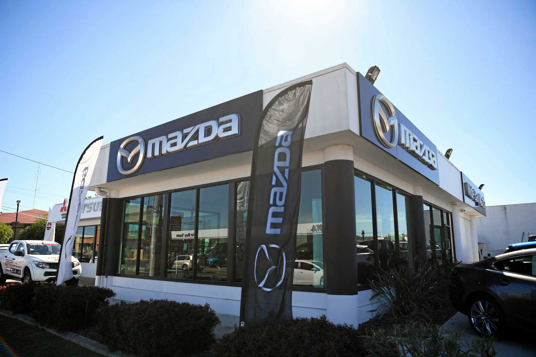 BRAZEN THEFT: A white Mazda CX5 touring wagon was stolen from Wide Bay Mazda on Tuesday night.