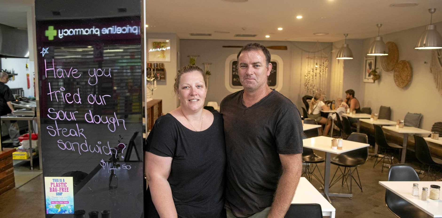 HOME GROWN: Owners of Dunes Cafe, Liz and Ben Sumner, ensure their homemade produce is made using local ingredients