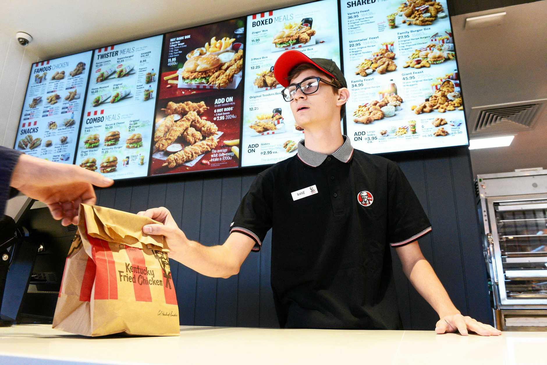 OPENING DAY: KFC team member Rane Bassett.
