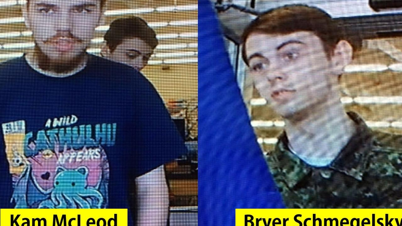 Kam McLeod, 19 and Bryer Schmegelsky, 18, are now prime suspects in the Canada murders. Picture: Supplied
