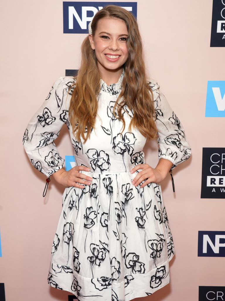 Bindi Irwin at the Critics' Choice Real TV Awards in June this year. Picture: JC Olivera/WireImage