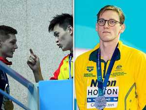 'Team Mack' unite as swimmers turn backs on Sun