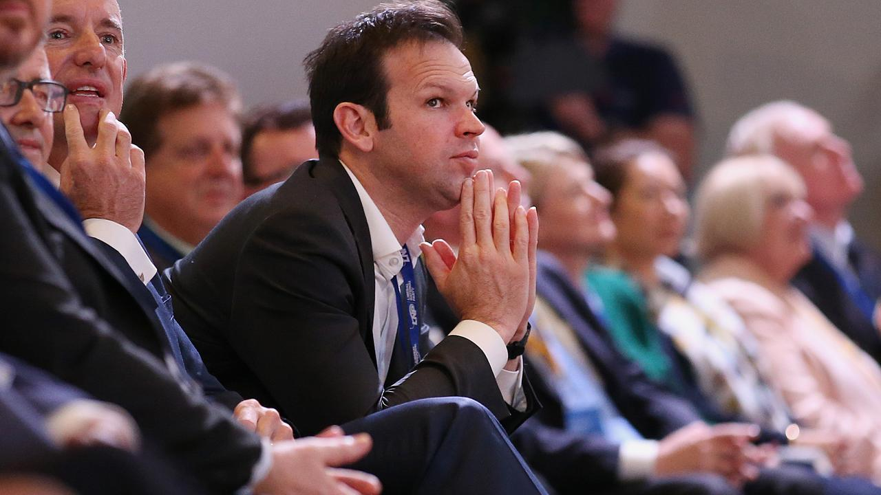 Resources Minister Matt Canavan has shied away from backing an inquiry into nuclear power in Australia. Picture: AAP Image/Jono Searle