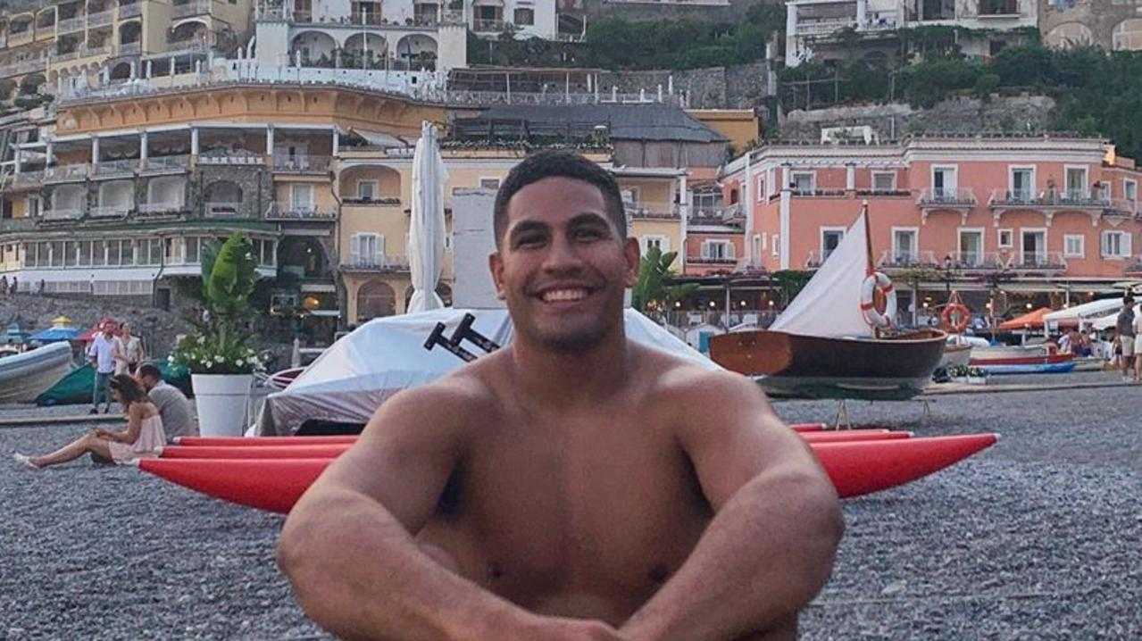 Former Cowboy Nene Macdonald iat the Amalfi Coast in Italy. picture taken 23rd July. Image from Instagram