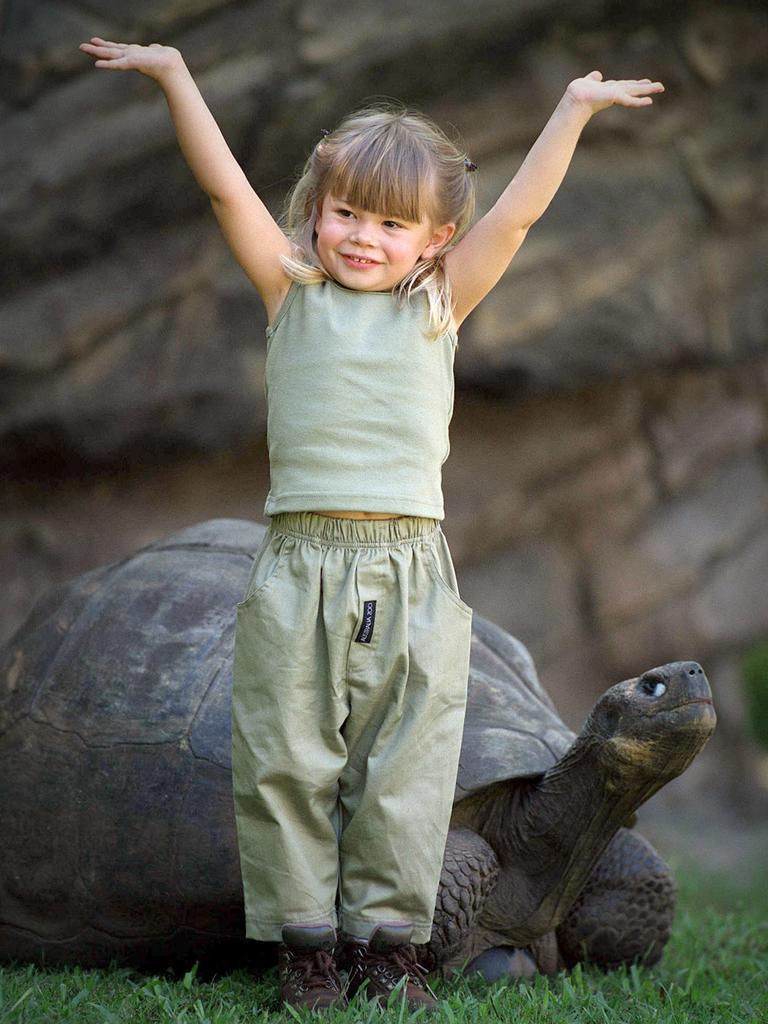 Showing off! Bindi Irwin in 2002.