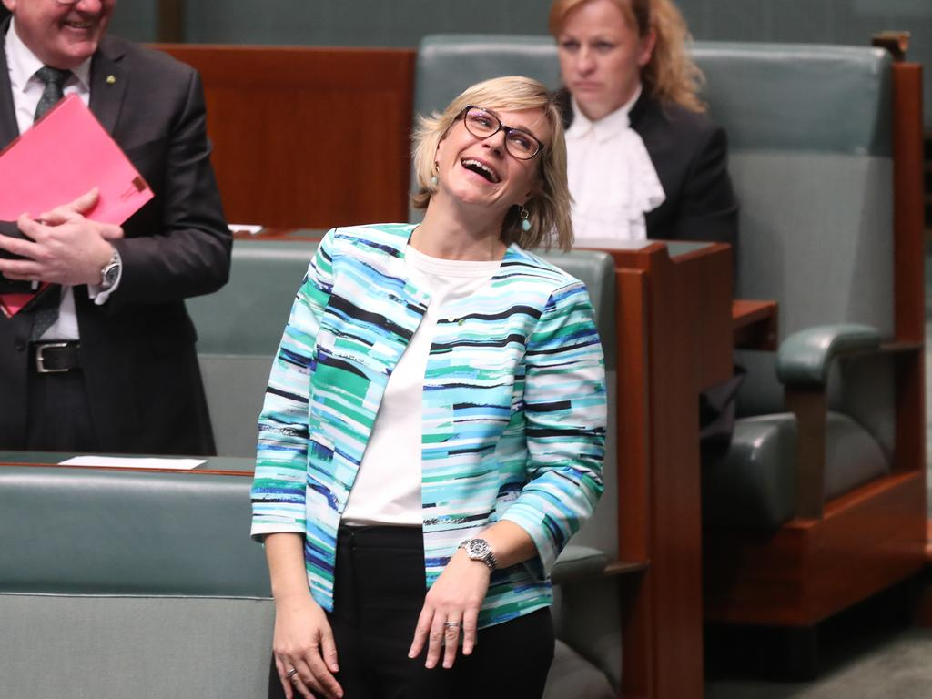 Zali Steggall who ended Tony Abbott's political career said it was wrong to consider environmental issues as concerns of the left in her maiden speech. Picture: Kym Smith