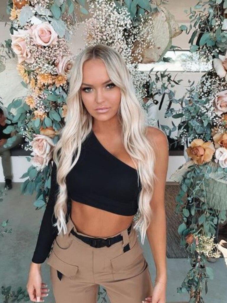 Influencer Tahlia Skaines. Photo: Instagram - @tahliaskaines