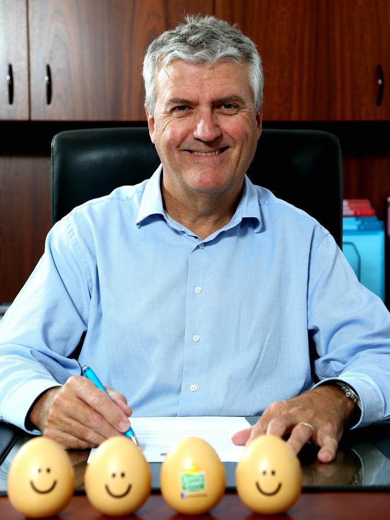 Sunny Queen Eggs managing director John O'Hara. Picture AAPImage/ David Clark