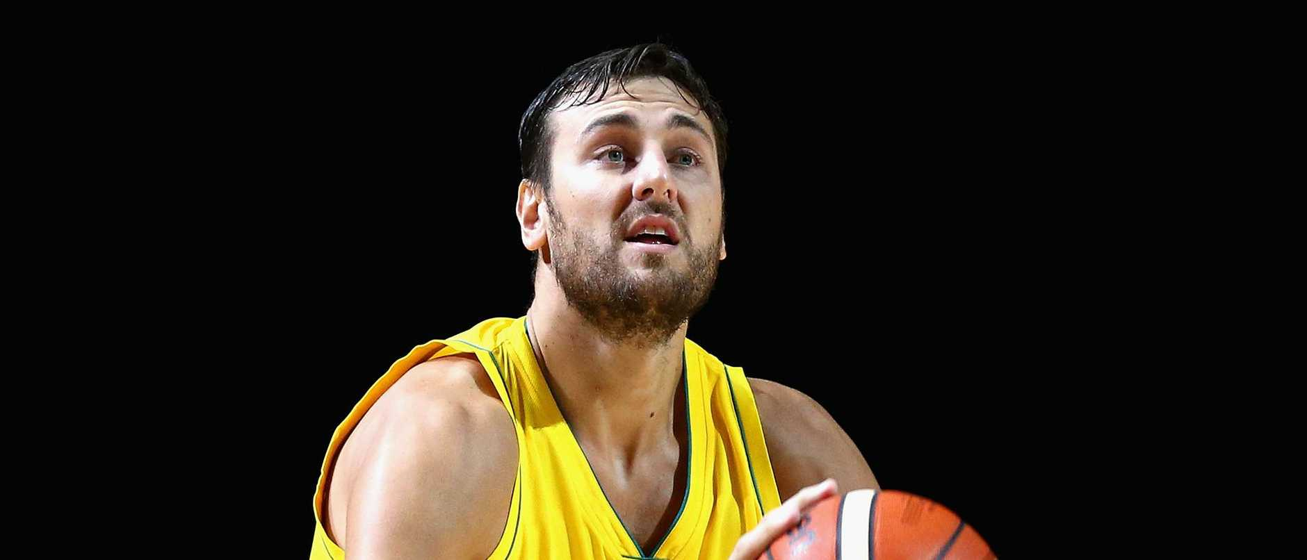 Andrew Bogut says the Boomers have plenty to play for at the World Cup with an Olympic berth on the line. Picture: Robert Prezioso/Getty Images