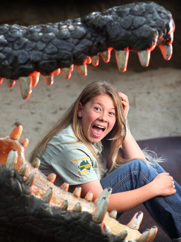 Joking around at Australia Zoo.