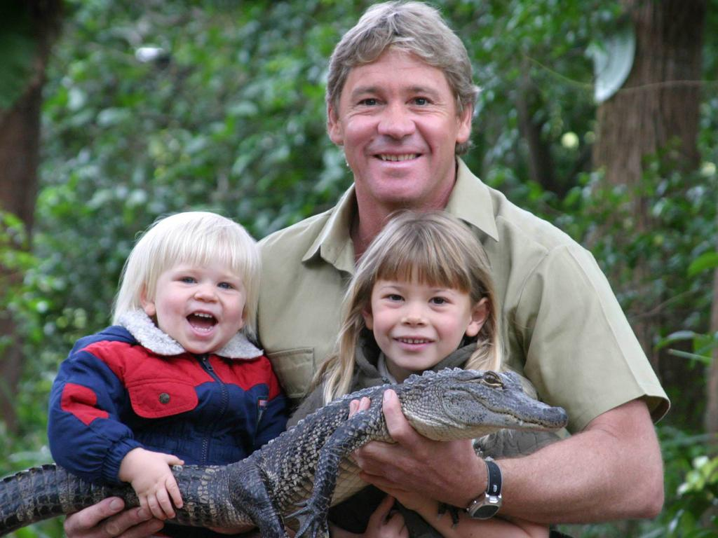 Like father, like son and daughter. Bob, Steve and Bindi Irwin pictured in 2006.