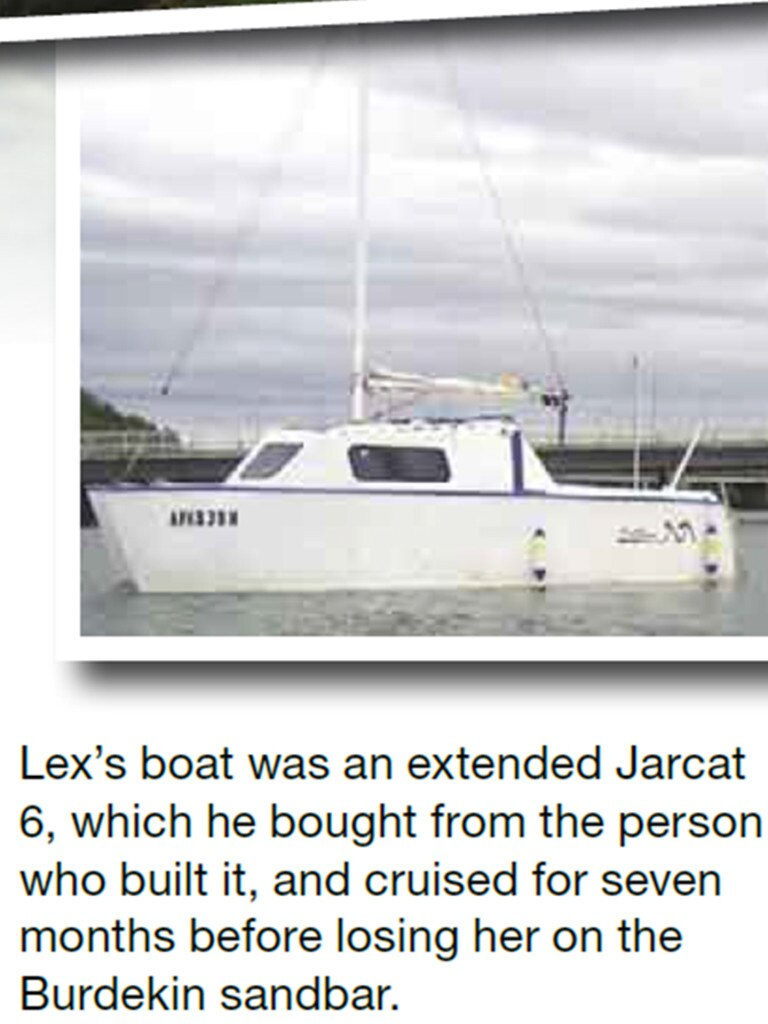 Coverage of what really happened to Lex Adams' boat in the Cruising Helmsman. File picture