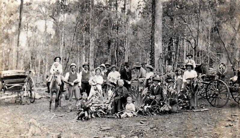 EARLY DAYS: Just like the early settlers of Moola, country residents loved to picnic and camp at the Bunya Mountains.