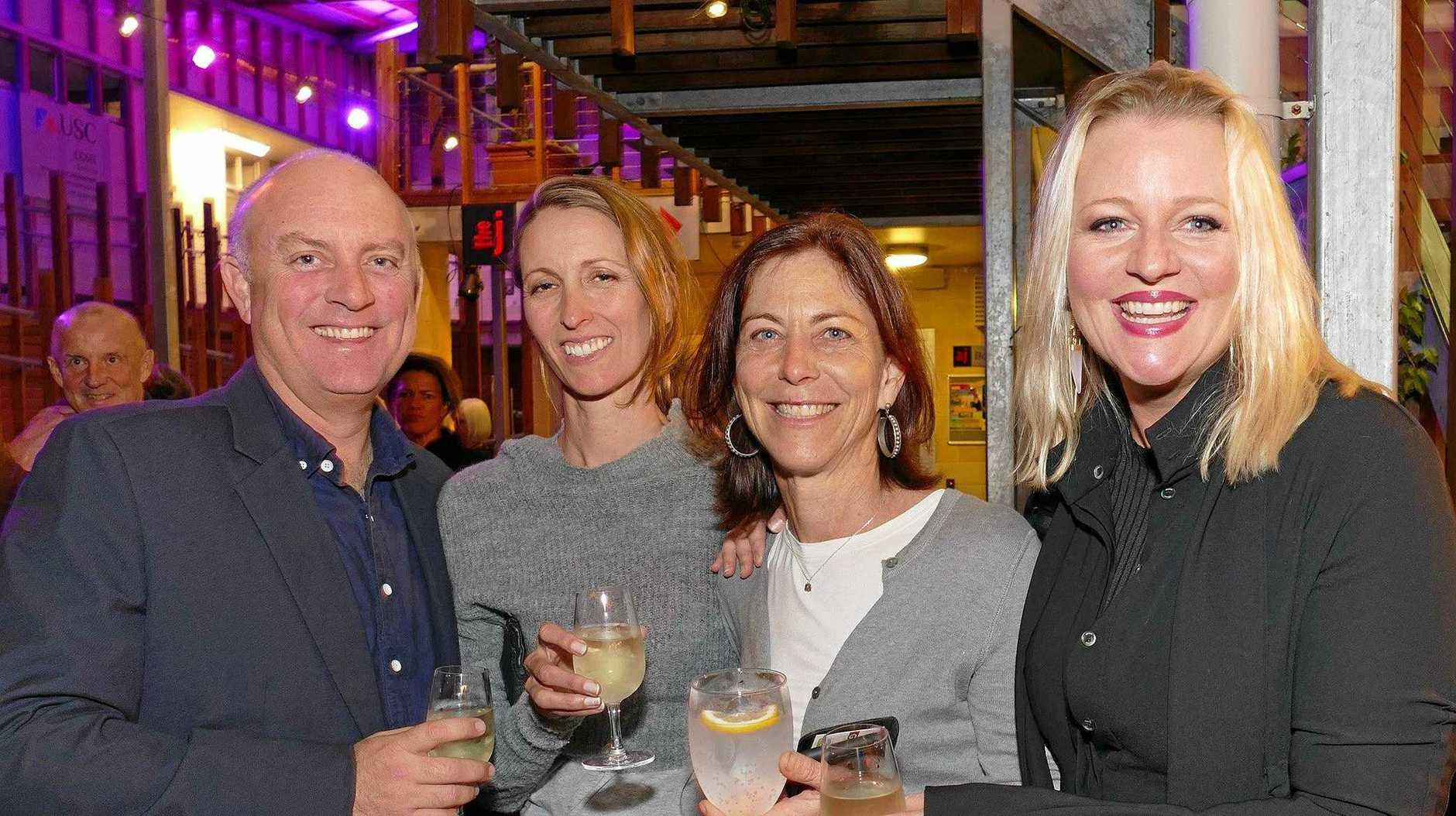 Andrew Stafford, Jade Vernon, Sheelin Coates and Renee Stafford at Noosa alive! opening night.