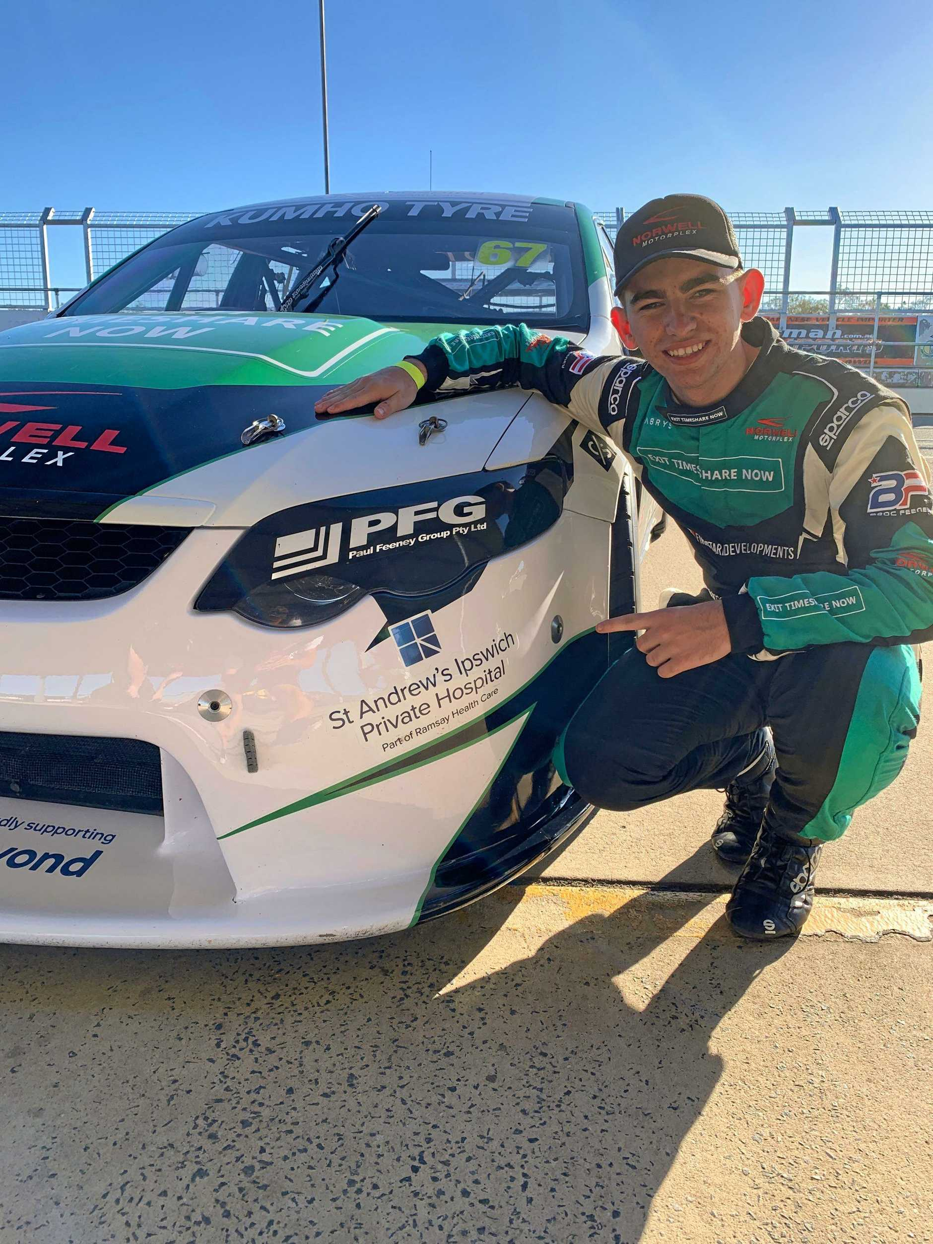 St Andrew's Private Hospital have come on board to assist Ipswich racer Broc Feeney in this weekend's Super3 event at Queensland Raceway.