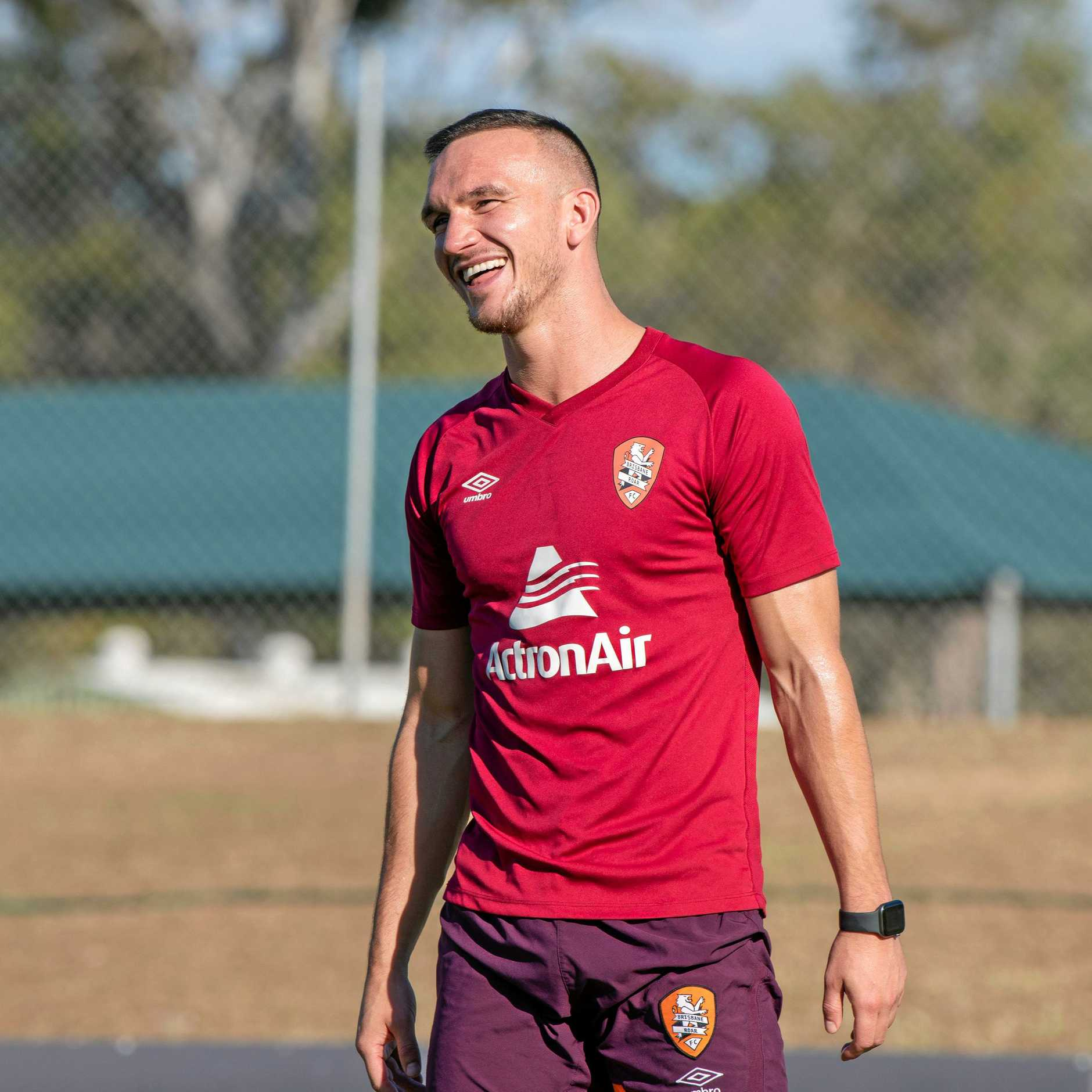 RAW SPEED: Brisbane Roar defender Tom Aldred has previously played for English and Scottish sides.