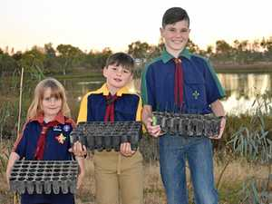 Scouts busy planting for town's greener future