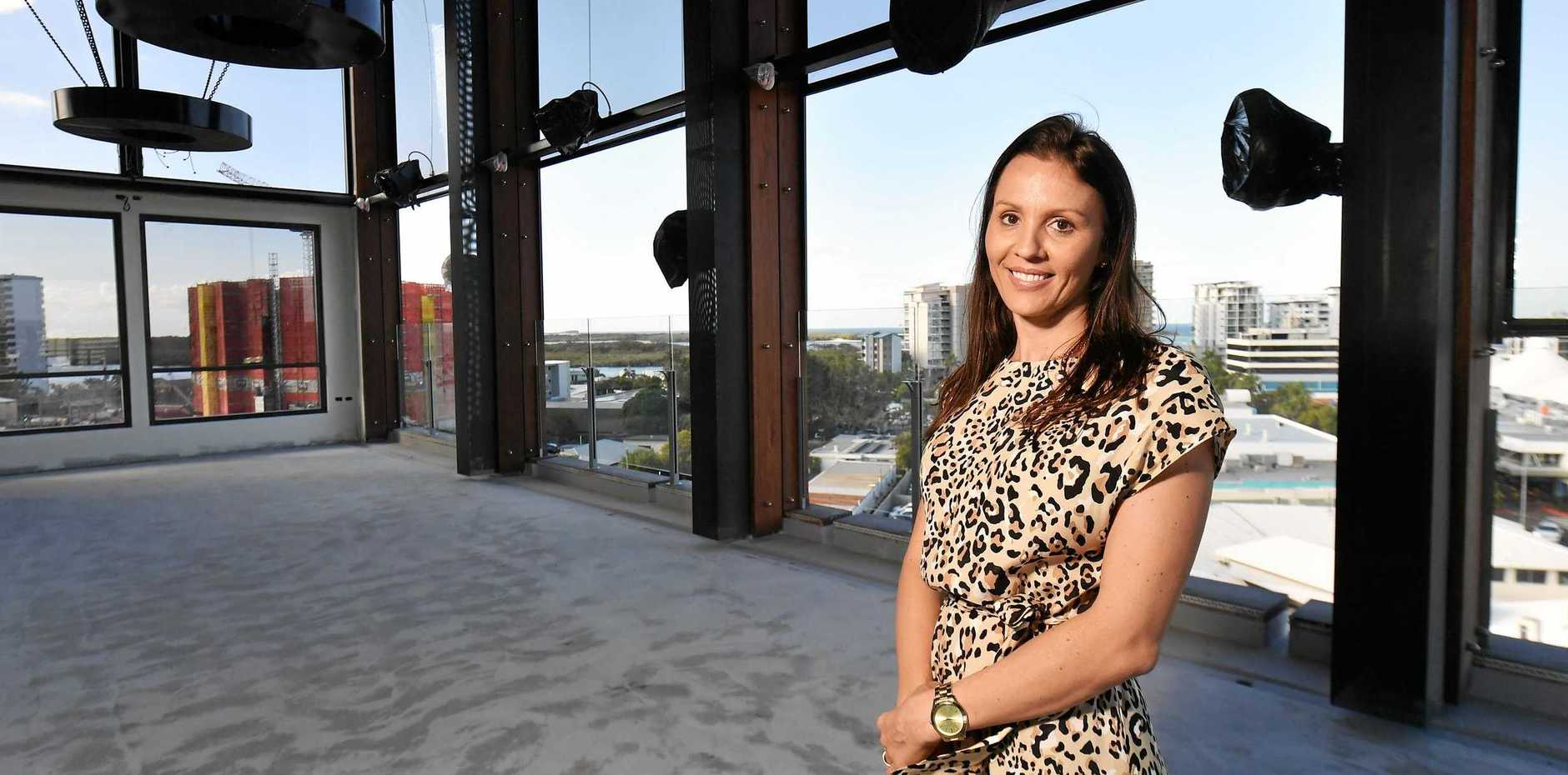 Charlene Dellaway is looking forward to opening Rooftop Bar and Garden in Maroochydore next month.