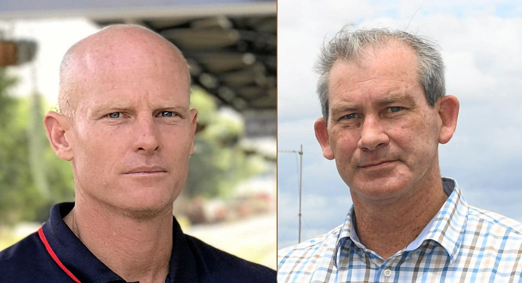 Councillor Glen Hartwig is challenging Mayor Mick Curran at the next election, though Cr Curran has not indicated yet whether he will run or not.