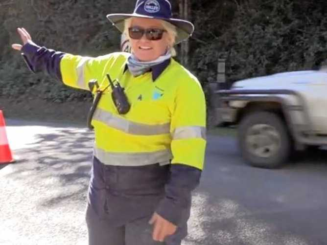 Richmond Valley Council's Multi-purpose traffic controller Hayley Turner is excited to be part of council's first all female traffic control crew.