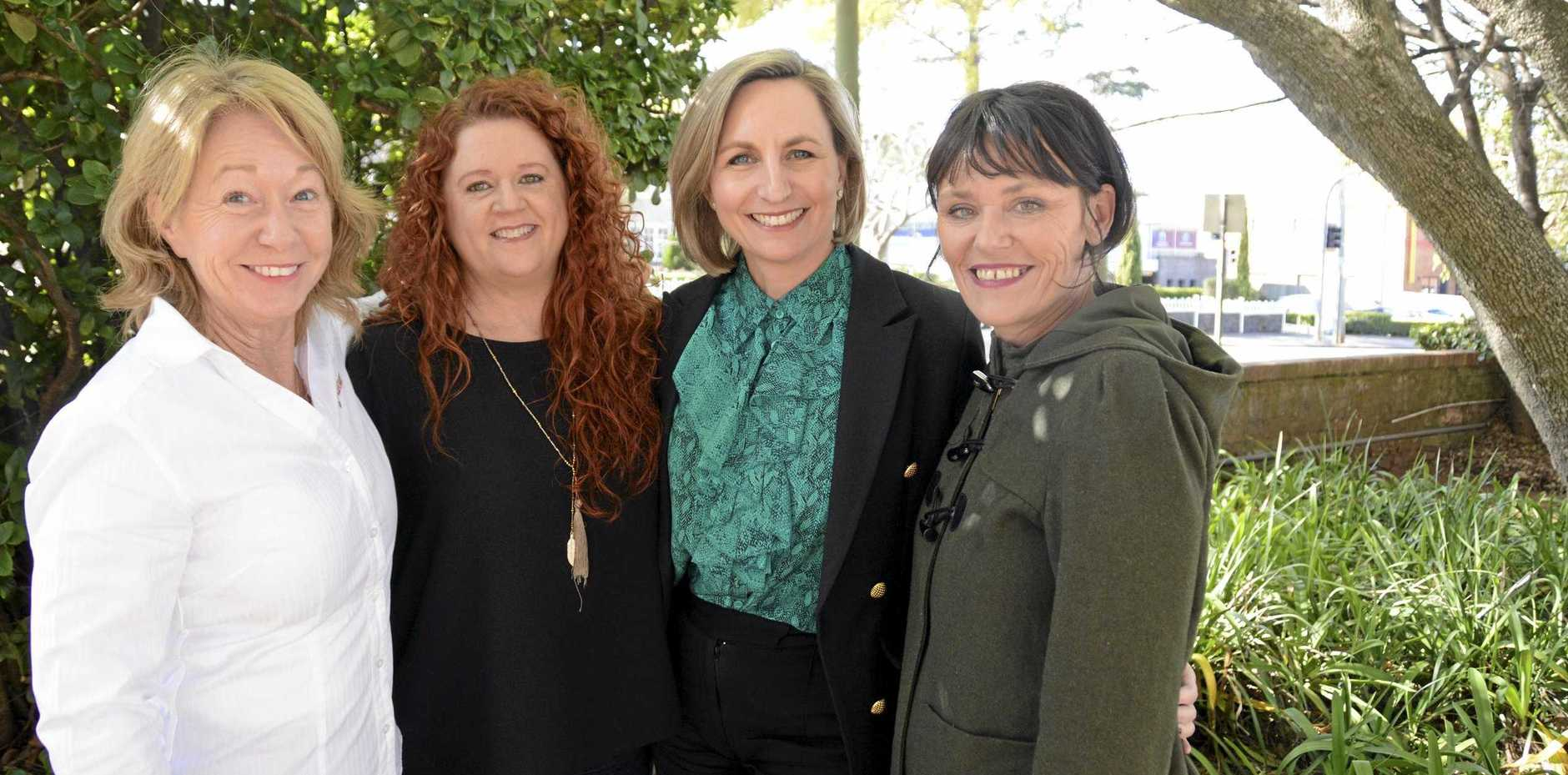 HELPING HANDS: The Toowoomba Women's Collective leadership team (from left) Megan O'Shannessy, CEO Amanda Dalton, Jacqui Armstrong and Susy Wenitong raised more than $65,000 to open a drop-in service centre for homeless women.