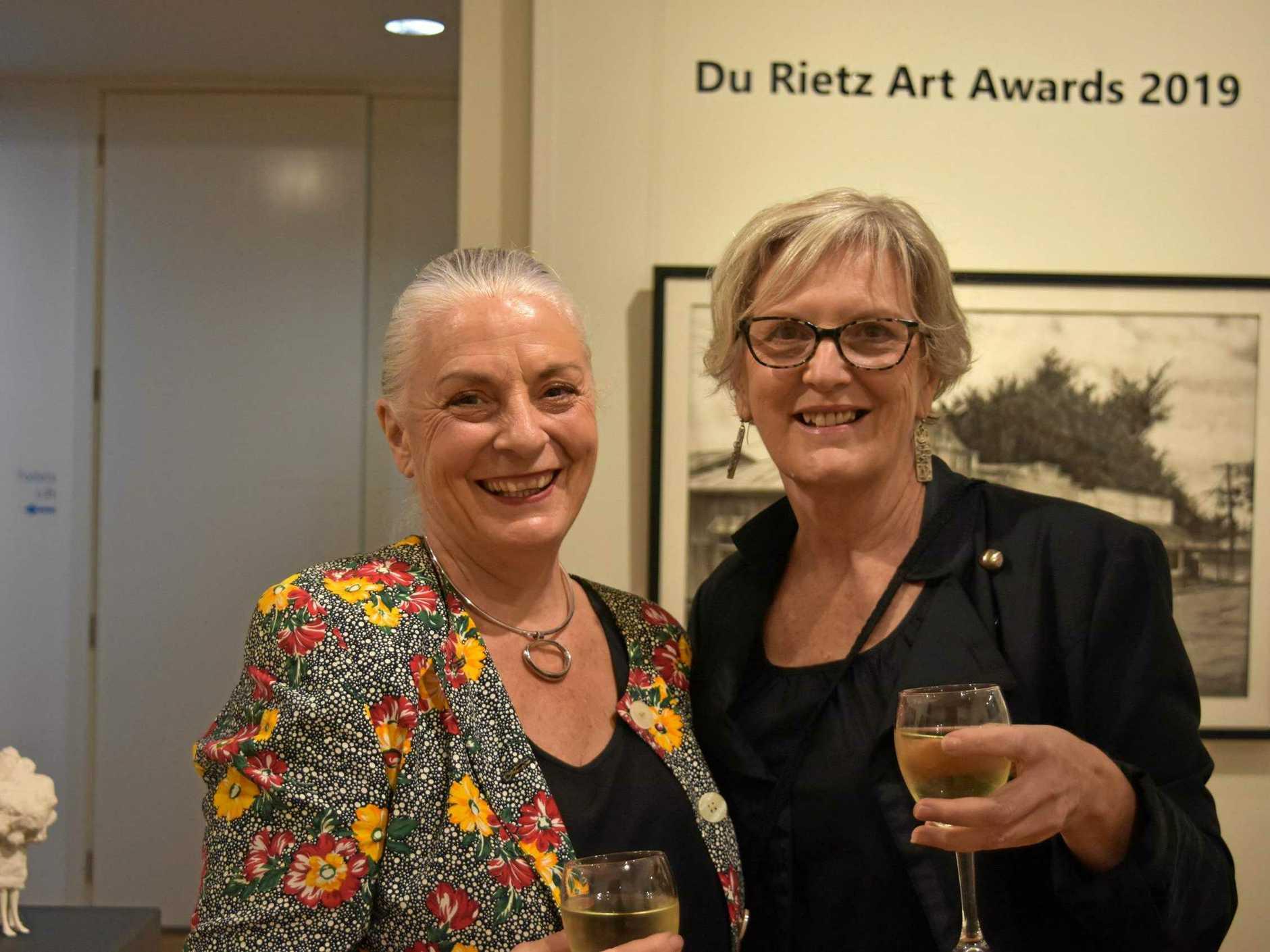 Du Rietz Art Awards Official Opening, Wednesday July 24, 6pm. Sherida Keenan and Kym Barrett.