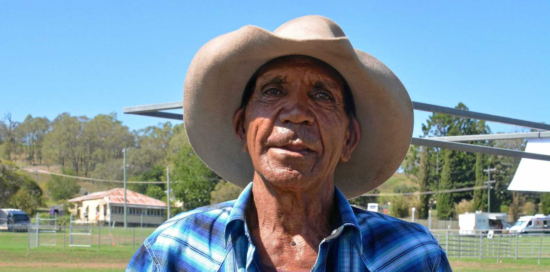 SHOCK DEATH: Tributes are flowing for much-loved Gympie region icon, Stanley Mickelo who died suddenly today. This photo was taken earlier this year at the 79th Goomeri Show in March 23, 2019.