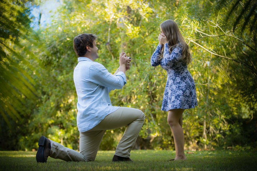 Bindi Irwin's boyfriend Chandler Powell proposes marriage to the daughter of Steve Irwin at Australia Zoo.