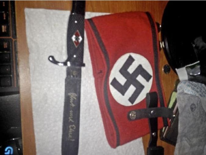 Bryer Schmegelsky's Nazi memorabilia. Picture: Supplied