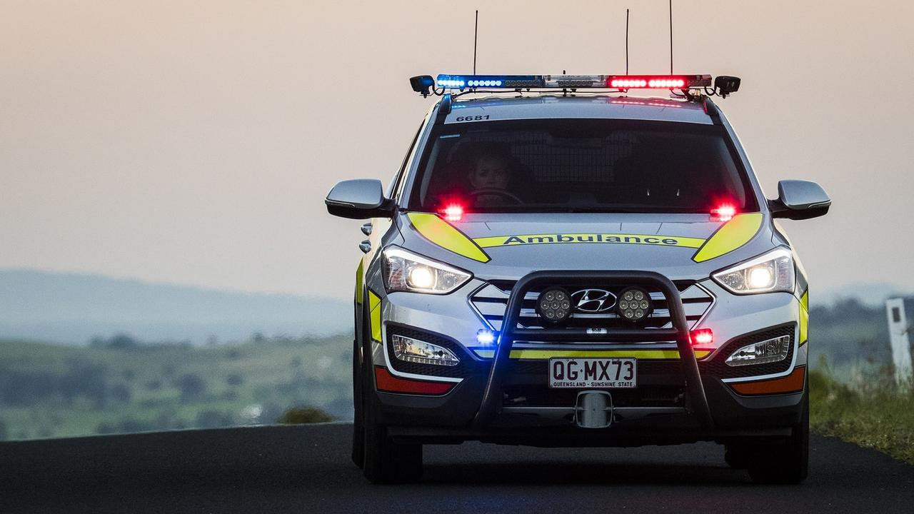 Man treated by paramedics after motorcycle crash as motorists face long delays on Logan Motorway Eastbound. Picture: generic, QAS Ambulance.