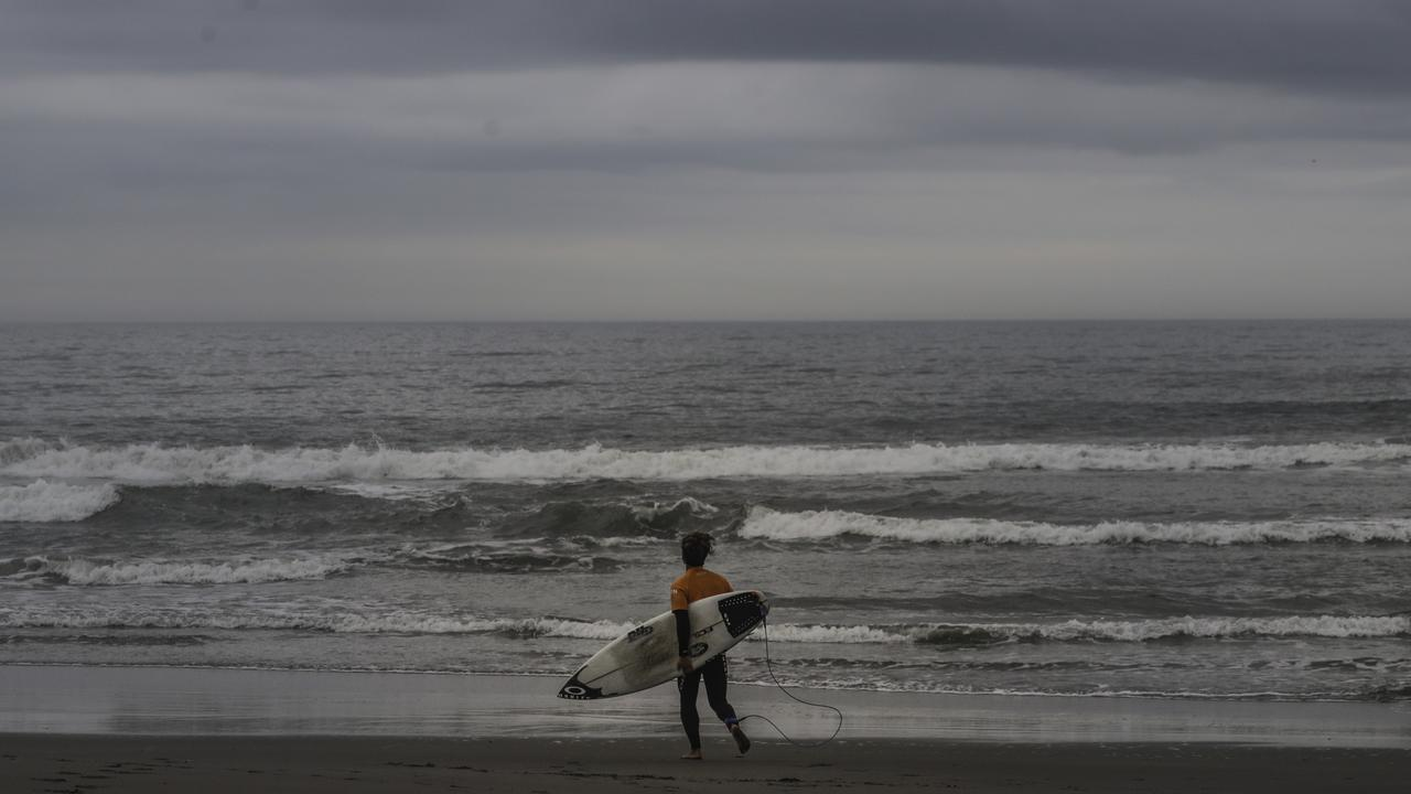 You call those waves? Japan surf spot, Tsurigasaki, has been picked as the location for the first Olympic surfing event at the Tokyo 2020 Olympics. Picture: AP Photo/Jae C. Hong