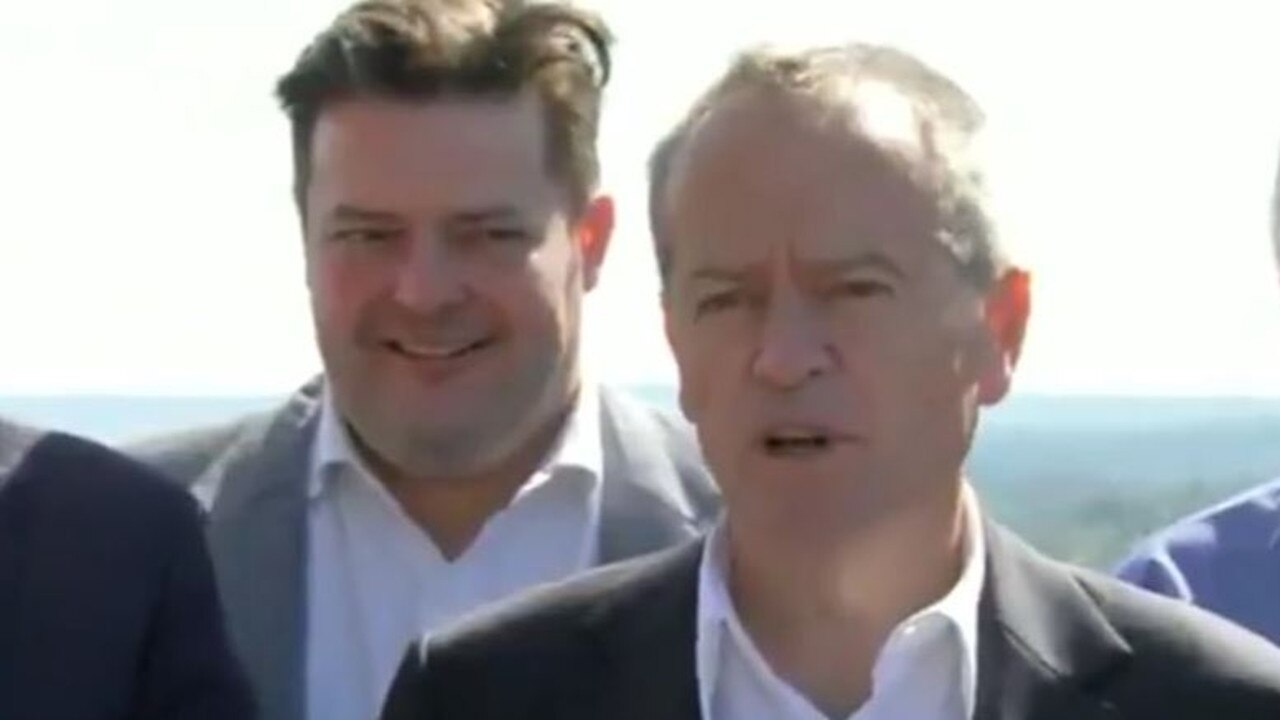 Will Fowles with former Labor leader Bill Shorten. Picture: Channel 7