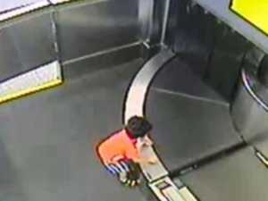 Panic as boy caught in conveyor belt