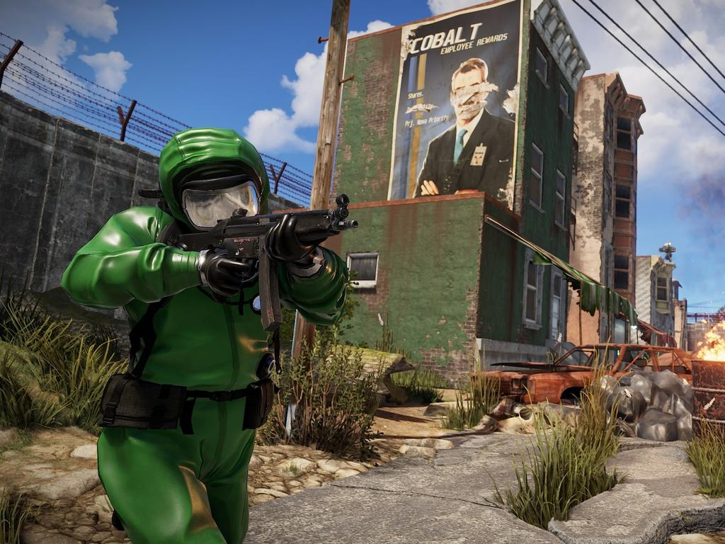 A scene from Rust — the video game that Bryer Schmegelsky played. Picture: Supplied