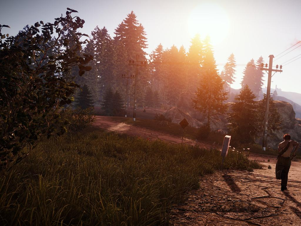 Rust — the video game that Bryer Schmegelsky played, eerily looks like the wilderness where they are currently on the run. Picture: Supplied