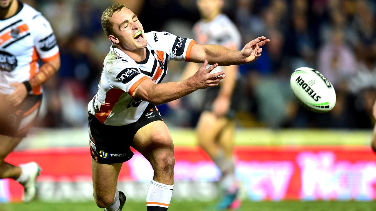 Wests Tigers are hoping for big things from Jacob Liddle. Photo: Alix Sweeney