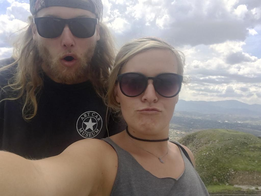 Australian Lucas Deese and his American girlfriend Chynna Deese were 'in love' and on the trip of a lifetime when they were found shot dead on a remote Canadian highway last week. Picture: Deese Family/AP