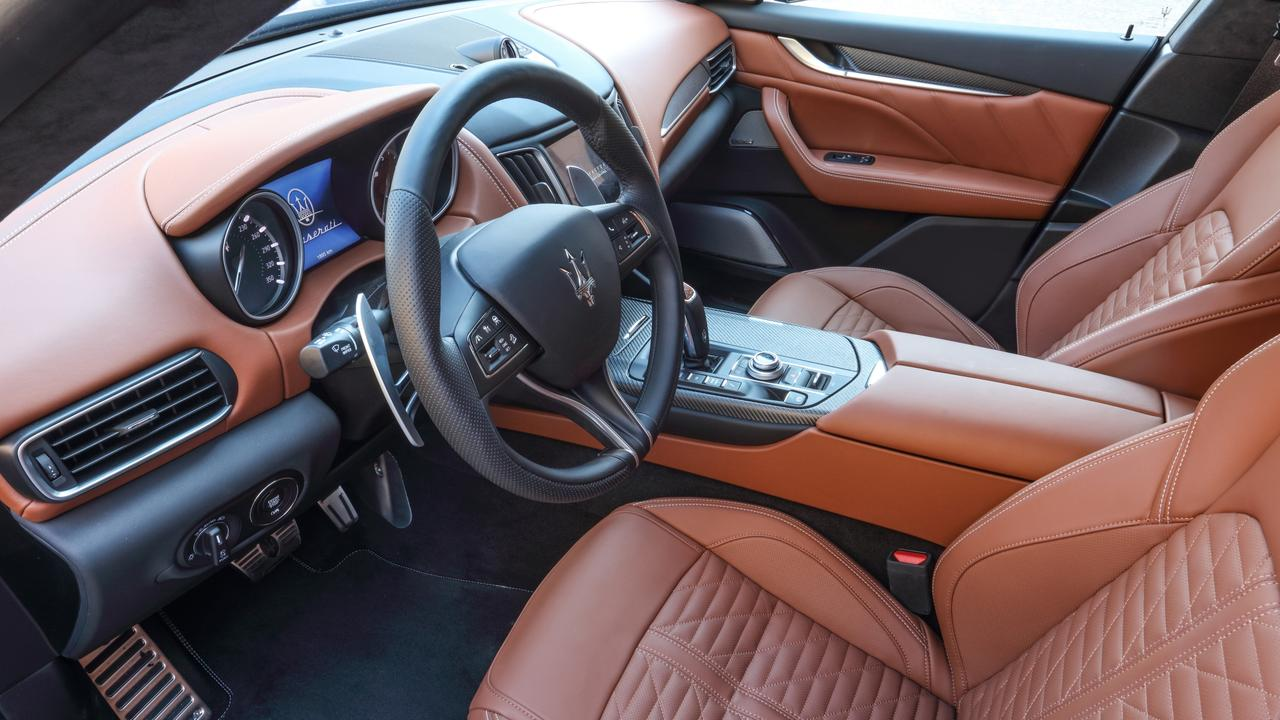 The Levante features a plush interior.