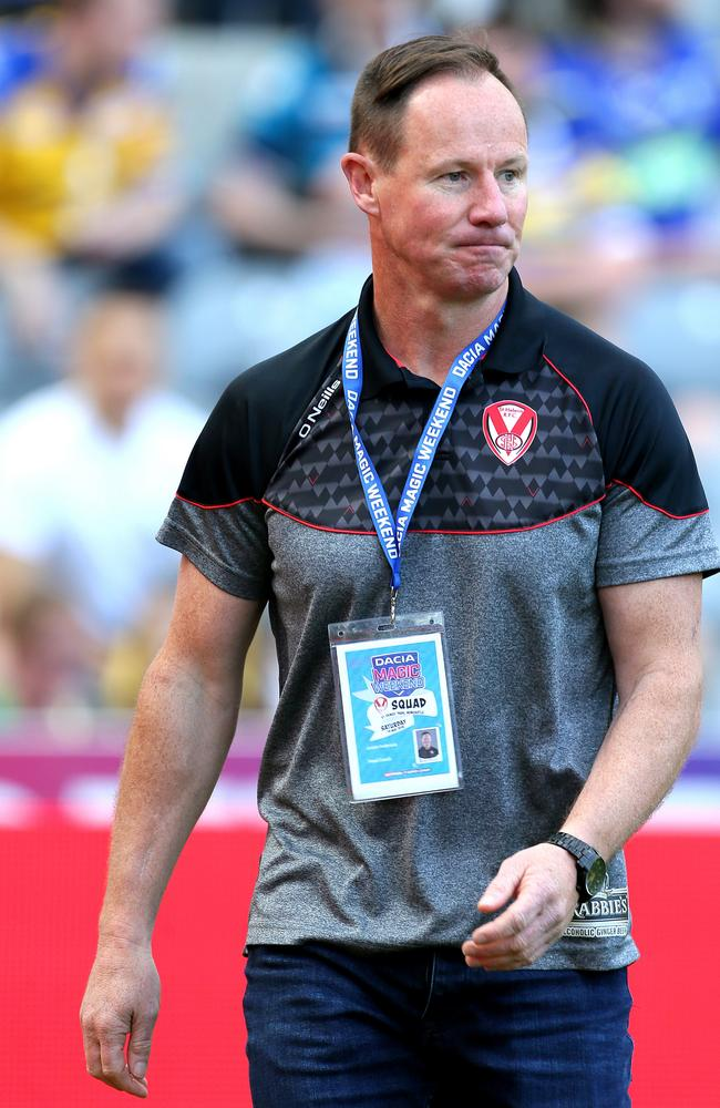 Saint Helens coach Justin Holbrook remains in the hunt for the role. Picture: Richard Sellers