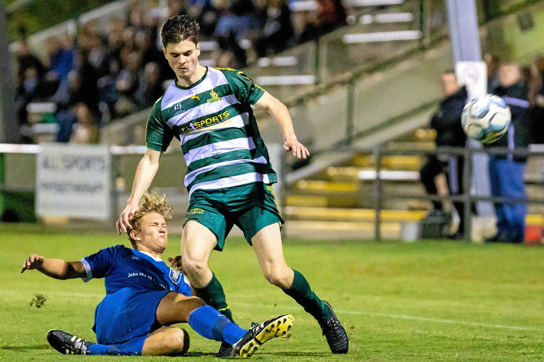 SWITCHING ROLES: Western Pride striker Michael Morrow will be switched to defence for his team's do-or-die state league match against Gold Coast United in Ipswich on Saturday night.