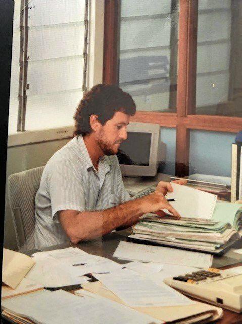 Tony De Brincat in his earlier days as a council employee.